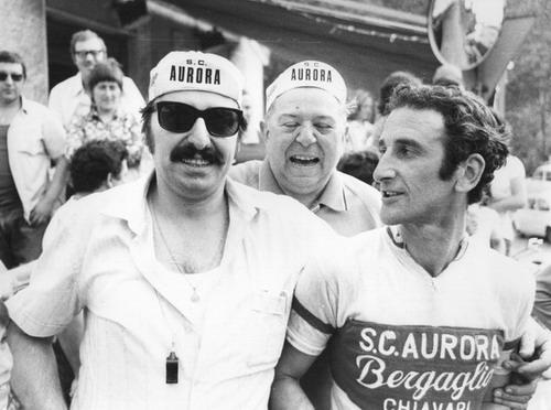 """L'attuale Presidente Mario Sanguineti,""""Gustin"""" Bergaglio e Marco Sanguineti"""