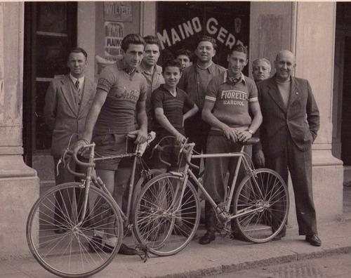 Chiavari (Piazza Roma) Angelo Brignole,Agostino Bergaglio e Ferdy Kubler.