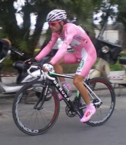 Danilo Di Luca (LPR) in riscaldamento - Foto Descalzo N.